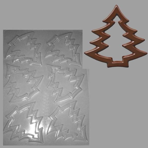 schokoladen gie form dekorfolie tannenbaum 6 st ck kr mers schoko laden. Black Bedroom Furniture Sets. Home Design Ideas
